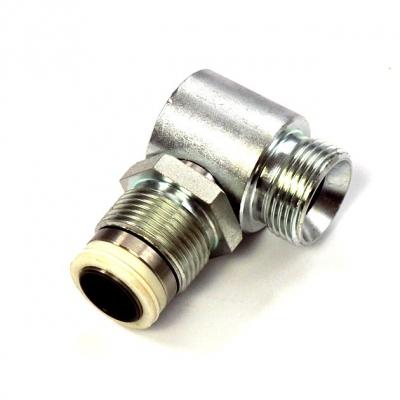 Drehgelenk - 90° - Stahl - Hochdruck - 200 bar