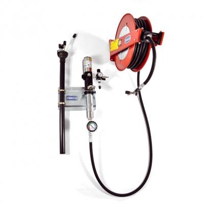 Altölabsauganlage - Schlauchaufroller - Druckluftpumpe - 140 l/min.