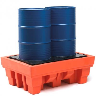 Auffangwanne - aus Polyethylen - für 2 Fässer