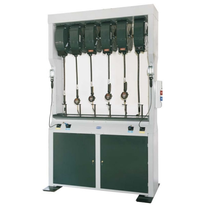 Doppel Flüssigkeitsabgabestation - inkl. Ölüberwachungssystem - 2 Schaltanlagen - 6 Schlauchaufroller (Öl)