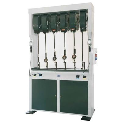 Doppel Flüssigkeitsabgabestation - mit elektrischem Altölabsaugsystem - 5 Schlauchaufroller (Öl) - 2 Schaltanlagen