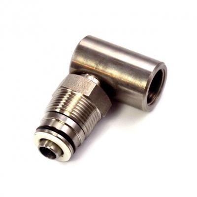 Drehgelenk - 90° - Ø 10 mm - 1/2 IG - V2A