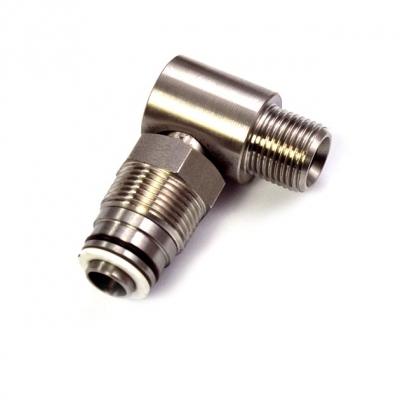 Drehgelenk - 90° - Ø 12 mm - 1/2 AG - V2A