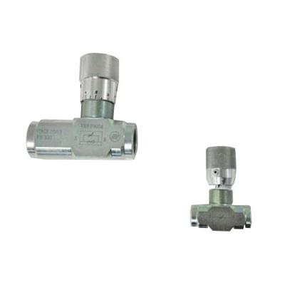 Durchflussregler - 90° gewinkelt - 300 bar - 80 l/min