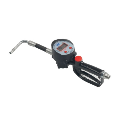 Durchlaufzähler digital - flexibler Gummi-Auslauf - 35 l/min