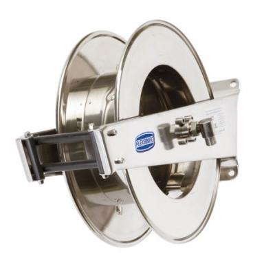Schlauchaufroller - Edelstahl - 200 bar - für max. 20 Meter - 1/2 Schlauch