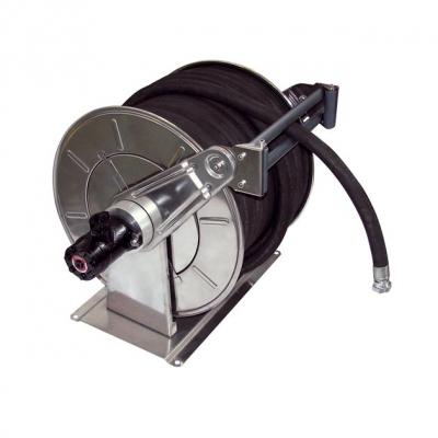 Schlauchaufroller - Hydraulikmotor - Edelstahl - 100 bar - max. 50 m Schlauch
