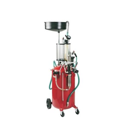Fahrbares Altölauffang- / Altölabsauggeräte - Glasmesszylinder - 80 L Behälter