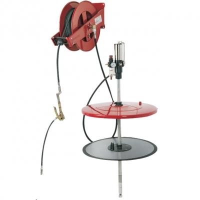 Fettförderset - Schlauchaufroller - für 200 kg Gebinde - 2400 g/min.