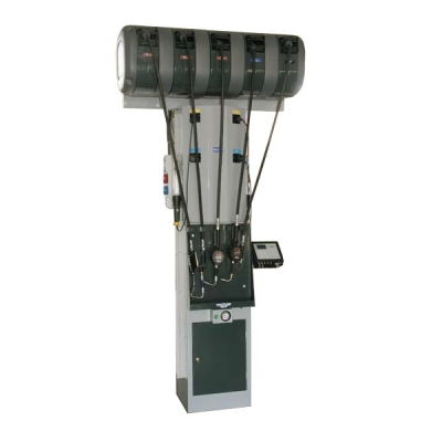 Flüssigkeitsabgabestation - 5 Schlauchaufroller (Öl) - inkl. Ölüberwachungssystem - 2 Schaltanlagen