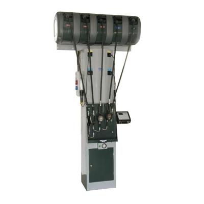Flüssigkeitsabgabestation - mit elektrischem Altölabsaugsystem - 5 Schlauchaufroller (Öl) - 2 Schaltanlagen