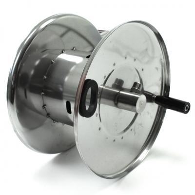 Schlauchaufroller - manuell - aus rostfreiem Stahl - 300 x 390 x 330 mm