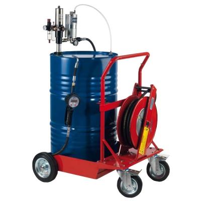 Mobiles Öl-Abgabeset - mit Schwerlastfahrwagen - für 208 l Fässer - MID MI-005 zertifiziert
