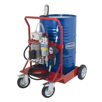 Mobiles Öl-Abgabeset - mit Zahnradpumpe - für Öl - mit Schwerlastfahrwagen