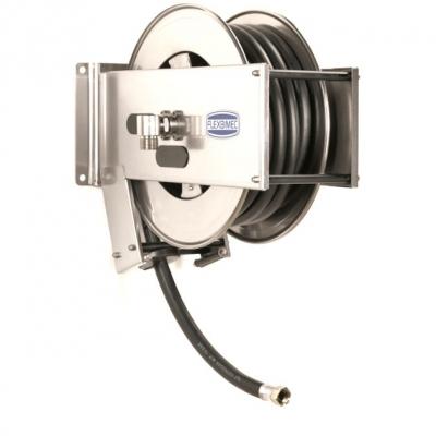 Schlauchaufroller - Edelstahl - mit 8m Schlauch 1 - für Diesel