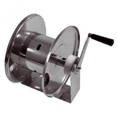 Schlauchaufroller - manuell - V2A - für max. 22 Meter Schlauch - 1/4