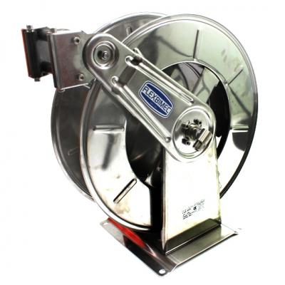 Schlauchaufroller - aus rostfreiem Stahl AISI 304 - starre Wandhalterung - 200 bar