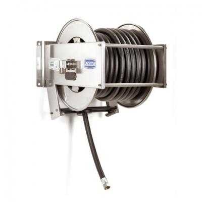 Schlauchaufroller - mit 15m Schlauchleitung - 1 - rostfrei - Diesel