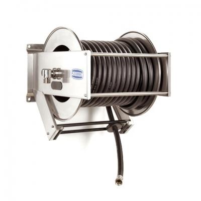 Schlauchaufroller - mit 25m Schlauch - Stahlfeder - automatisch